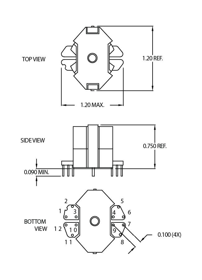 standard geometries  u2013 1 to 25 watts